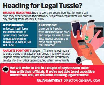 Call drops: Telecom operators seek clarity on compensating subscribers