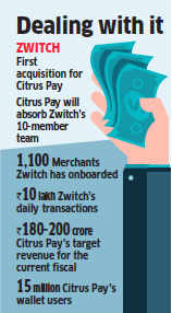 Citrus Payment Solutions acquires Bengaluru-based payment platform Zwitch for an undisclosed sum
