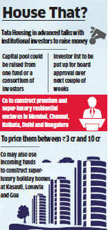 Tata Housing close to raising Rs 3,200 crore for luxury projects across top cities