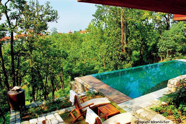 Evan Spiegel & Miranda Kerr's trip to Rishikesh