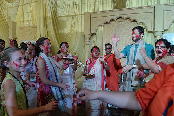 A diplomat takes time out for Durga Pujo