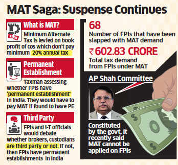 FPIs continue to be haunted by MAT ghost; have to show I-T they don't have any 'permanent establishment' in India
