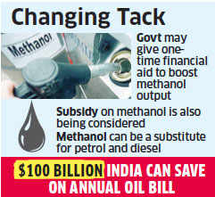 Government may make methanol production from domestic coal a high policy priority