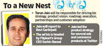 Flipkart hires former Twitter executive Tarun Jain to head the products division