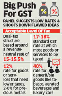 CEA-led committee suggests GST rate of 17-18 per cent