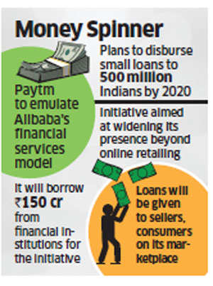 Paytm to disburse small loans to 500 million Indians by 2020