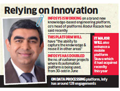 Infosys aims at meeting $20-billion target in revenue by 2020; bets on new software platforms for growth
