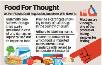 Food regulator FSSAI proposes tougher regulations for food importers