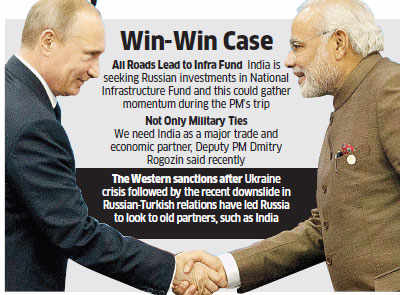 PM Modi's Russia visit to focus beyond defence ties; to seek investments for infrastructure fund