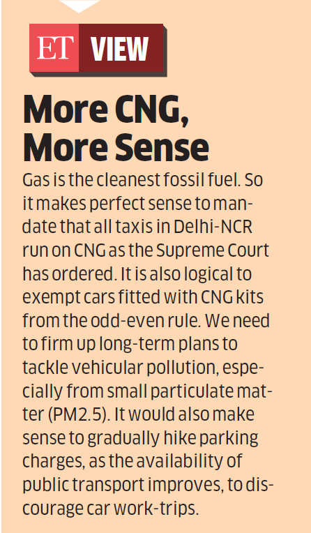 High-end diesel passenger vehicles ban in Delhi to hike CNG demand