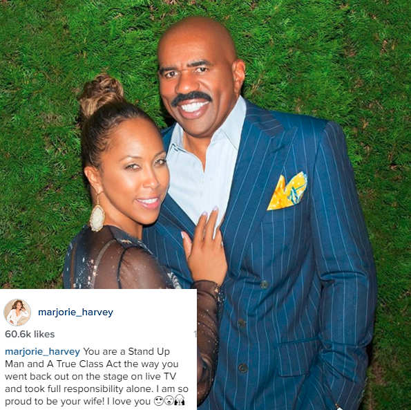 Marjorie defends husband Steve Harvey's goof-up at Miss Universe, says proud to be his wife