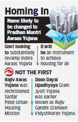 Modi government to rename new-look Indira Awaas Yojana to Pradhan Mantri Awaas Yojana