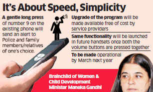 Starting March, pressing digit 9 on mobile phones to send distress alert to police