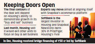 Housing.com begins stake sale talk with Snapdeal, News Corp; deal possible by second quarter of 2016