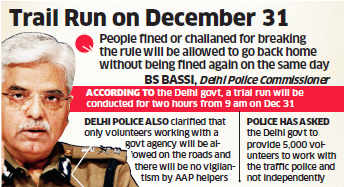 Delhi Police to give odd-even rule violators time to park cars at safe location after issuing challan