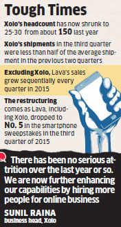 Xolo sees slumping sales, triggers restructuring and employee exits