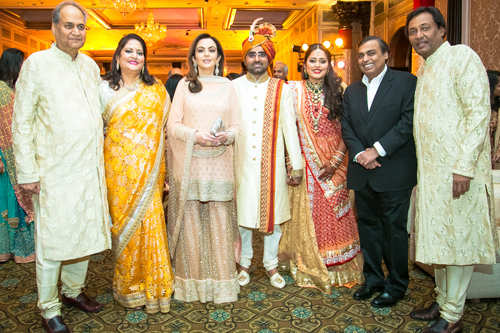 Nita, Mukesh Ambani attend Kriti Bajaj, Ram Chandra's wedding reception