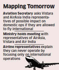 Civil aviation ministry concerned over domestic impact of AirAsia, Vistara's global operations