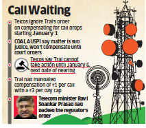 Compensation for call drops: Telecom companies to ignore Trai directive for now
