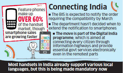 Feature phones to be compatible with local languages