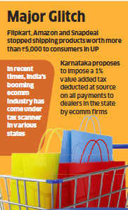 Ecommerce giants like Amazon, Flipkart lose crores in potential business on UP tax diktat