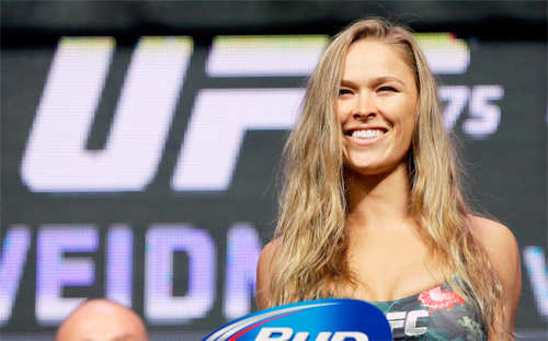 Ronda Rousey wants sleepover with Jennifer Lawrence