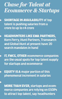 Talent crunch makes startups like Paytm, Snapdeal , InMobi dish out multi-crore salaries