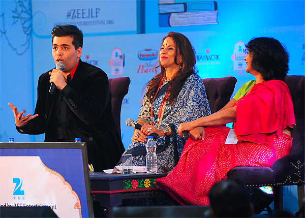 Won't talk about intolerance, look what happened to others: Karan Johar at Jaipur Literature Festival