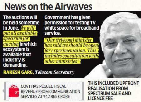 No more spectrum auctions this fiscal; preparations on for June, says Telecom Secretary Rakesh Garg