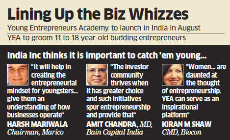 Young Entrepreneurs Academy to launch its first programme in India in August