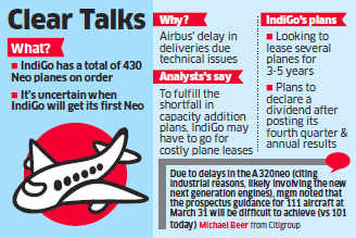 IndiGo seeks more technical sops for delay in delivery of Airbus A320Neo planes