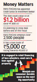 Hero FinCorp in talks with PE firms to raise Rs 800 crore via 10% stake sale