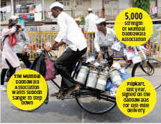Mumbai's dabbawalas challenge Subodh Sangle who said the group plans to set up a delivery company