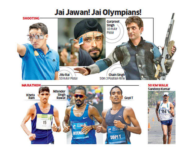 Jitu Rai, Kheta Ram and five other Indian Army's Olympic medal hopefuls to fly to Rio