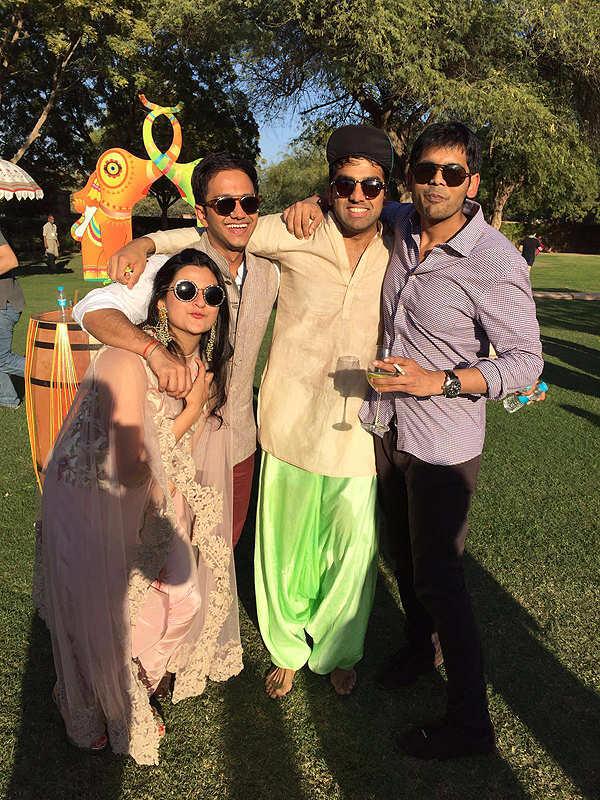 Parth Jindal & Anushree Jasani's colourful pre-wedding party