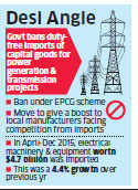 Duty-free capital goods' imports banned for power projects to push Make in India