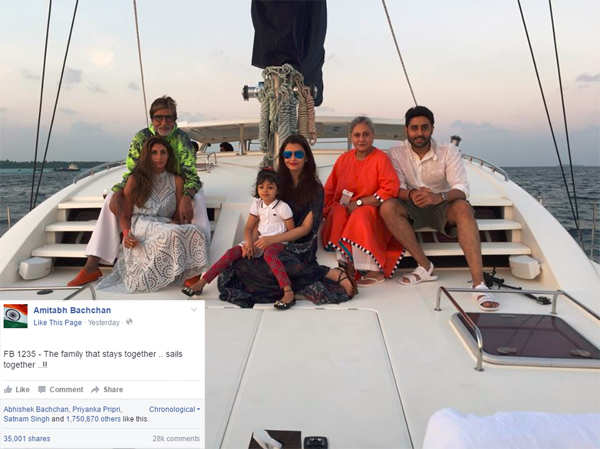 Abhishek Bachchan celebrates birthday with family on a cruise