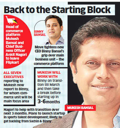 One less Bansal at Flipkart as Myntra's Mukesh quits; senior executive Ankit Nagori to also leave