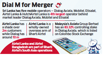 Bharti Airtel in talks to merge its wholly-owned Sri Lanka