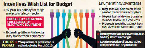 Budget 2016: Telecom Ministry seeks 10-year tax holiday for Make in India drive