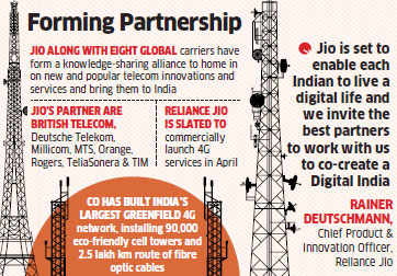 Reliance Jio ropes in MNC telcos to offer novel products