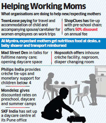 Companies roll out new initiatives for young mothers