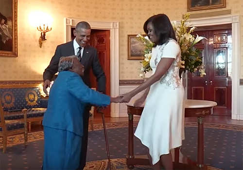 The Dancing Queen 106 Year Old Virginia McLaurin Shakes A Leg With Barack