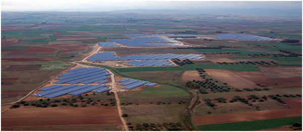 (Arial view of 20MWp Greenhouse PV Project located in (Villasor) Sardinia, Italy.)