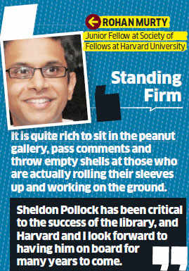 Rohan Murty says American Indologist Sheldon Pollock to stay
