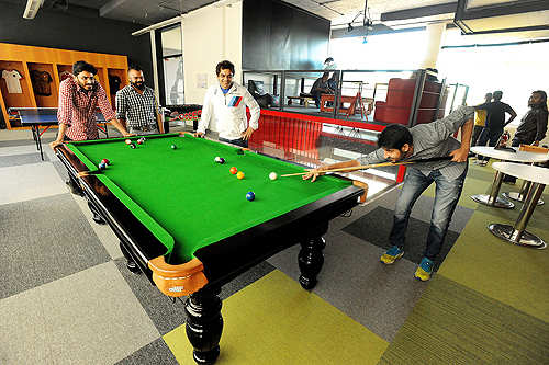 Abundant sporty breaks for employees at the Puma India headquarters in Bengaluru!