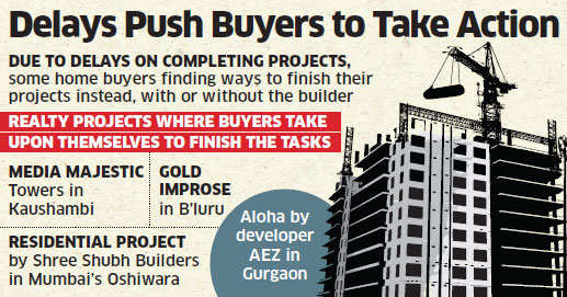With builders not completing projects on time, home buyers take charge to finish their projects