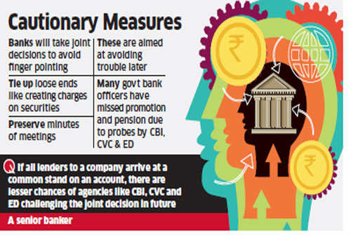 Bankers create security charges on collaterals to avoid CBI, CVC glare in future