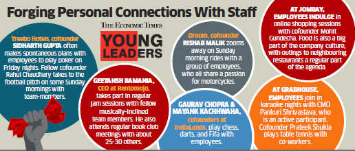 Young leaders at startups like Treebo Hotels and Droom bond with employees beyond workplace