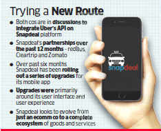 Consumers may soon be able to book an Uber cab on Snapdeal app